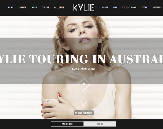 kylie minouce wordpress