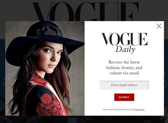 vogue and wordpress