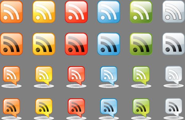 иконки кнопки rss