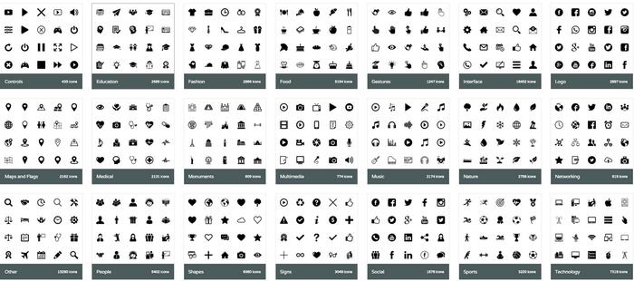 категории иконок