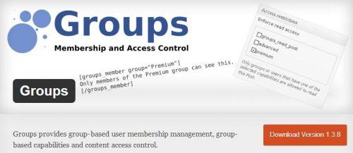 groups для платного доступа